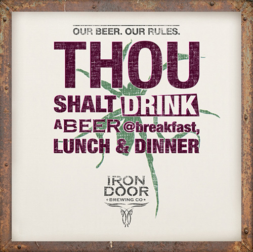 Drink a beer @breakfast, lunch & dinner