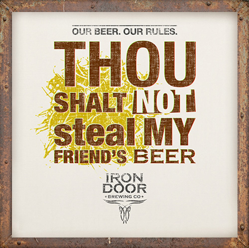 Not steal my friend's beer