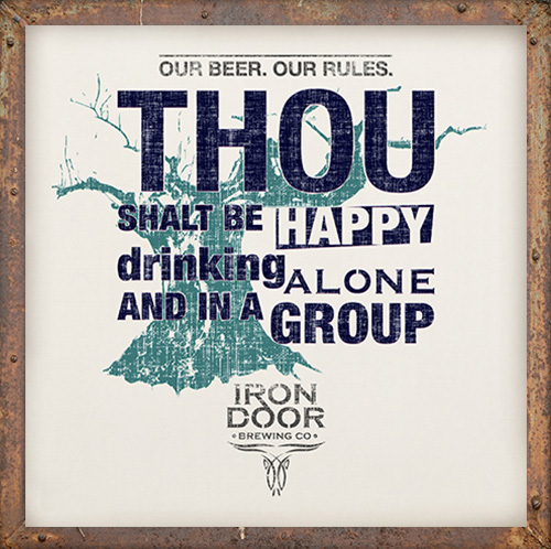 Be happy to drinking alone and in a group